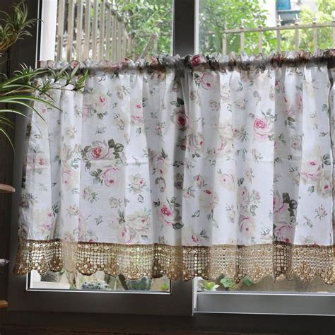 country kitchen curtains country floral cafe kitchen curtain 007 ebay