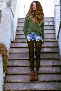 Francesca S - Hu0026M Sweater Bershka Shorts Tights Booties - Hello may | LOOKBOOK