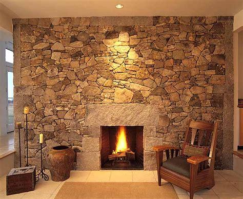 stone wallpaper fireplace interior design ideas stone