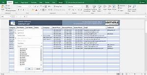 contact list template in excel free to download easy With contacts spreadsheet template