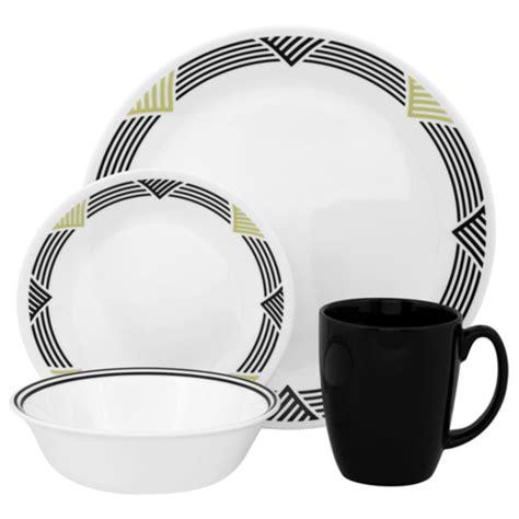 corelle dinnerware walmart stripes global dishes canada 16pc livingware