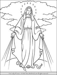 Our Lady of Grace Coloring Page