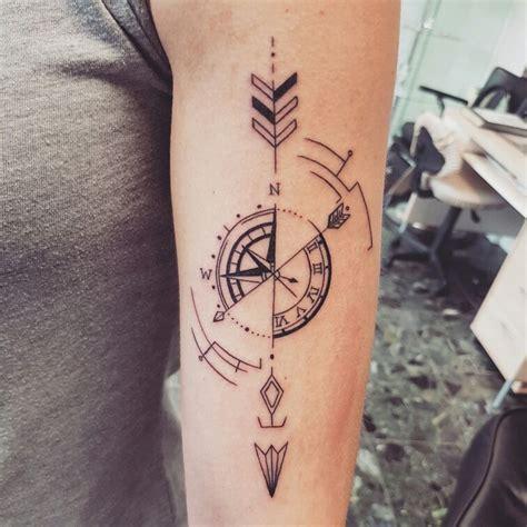 geometric compass tattoo tattoos pinterest