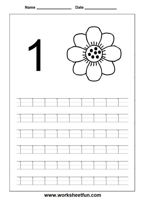Number Writing Worksheets For Preschoolers  Writing Numbers 1 8 Worksheet Practice Number Kids