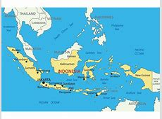 Indonesia Map with cities blank outline map of Indonesia