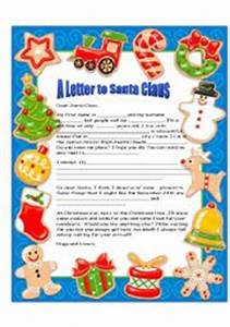 Esl worksheets for beginners a letter to santa claus for Cheap letters from santa claus