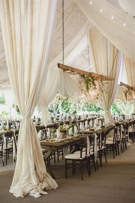 chic  elegant wedding tent draping inspiration