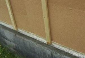 Pose du bardage sur murs extérieur en ossature bois
