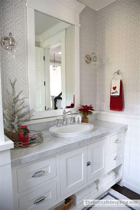 Christmas Powder Bathroom (12 Days Of Holiday Homes) The