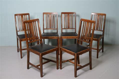 Set Of 6 Antique Edwardian Oak Dining Chairs  Antiques Atlas
