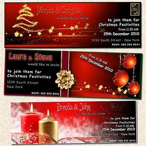 Free Printable Coupon Template Christmas Ticket Holiday New Year Party Invitation