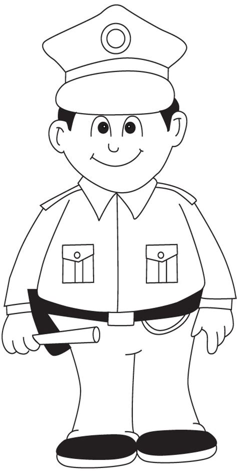 11589 policeman clipart black and white policeman coloring page printable coloring image