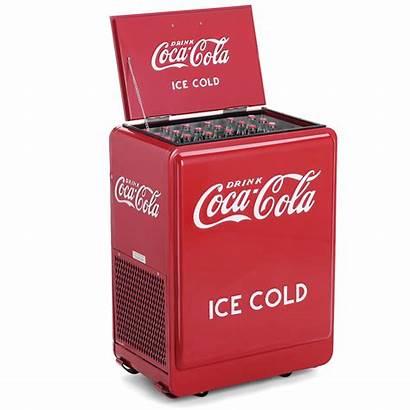 Cola Coca Classic Chest Refrigerated Hammacher Cooler