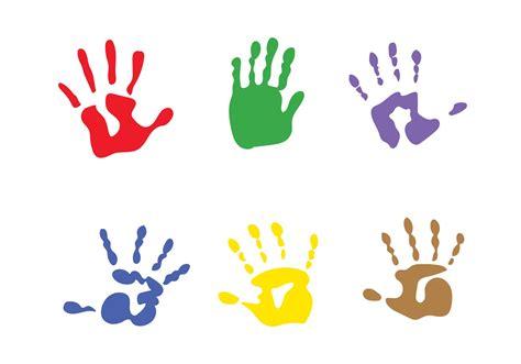 vector child handprints   vectors clipart