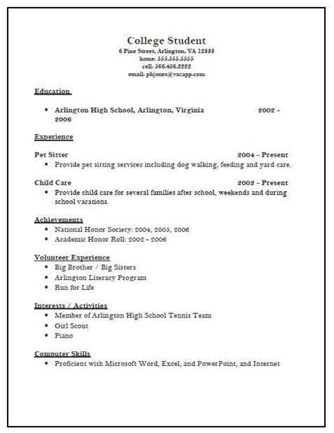 Activity Resume For College by Activities Resume For College Template Resume Builder