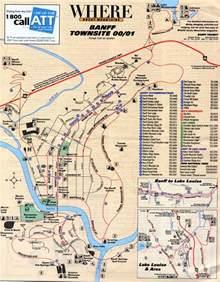 Banff Canada Town Map