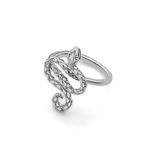 Stunning Silver Kew Snake Ring   London Road Jewellery