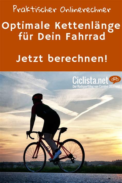 kettenlaenge berechnen fahrrad rennrad fahren und rennrad