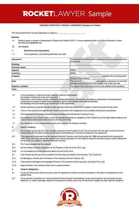 assured shorthold tenancy agreement   flat ast