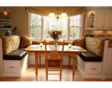 kitchen booth seating custom swagged valances banquette seat back cushions
