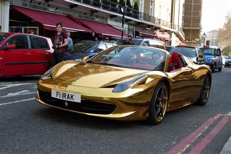 gold ferrari laferrari gold chrome ferrari 458 spider madwhips