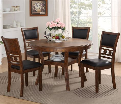 New Classic Gia D170150sbrn Dining Table And Chair Set