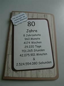 Besinnliches Zum 80 Geburtstag : danielas kartenwerkstatt karte zum 80 geburtstag eine besondere karte zum 50 geburtstag und ~ Frokenaadalensverden.com Haus und Dekorationen