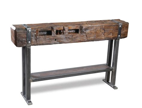 60 Inch Reclaimed Wood Console Table  Wood Creations