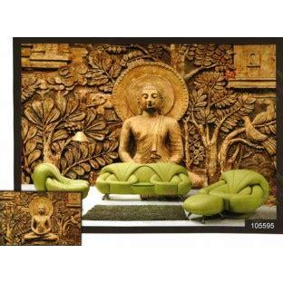 golden meditation buddha wall mural