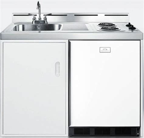 all in one kitchen sink and cabinet summit c48el wide 48 quot all in one kitchenette with two coil 9692