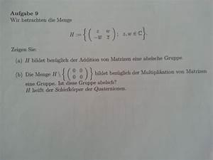 Komplexe Nullstellen Berechnen : diagonalisierbarkeit und abelsche gruppe quaternionen ~ Themetempest.com Abrechnung