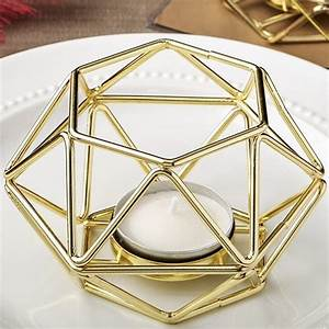 gold colored metal hexagon shaped geometric design With kitchen colors with white cabinets with votive candle holders gold