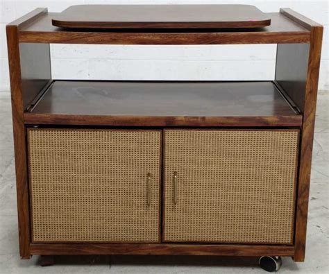 rolling kitchen cabinets retro rolling tv cart cabinet 1986
