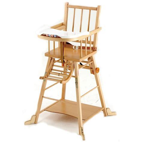 chaise haute en bois pour bébé le catalogue d 39 idées