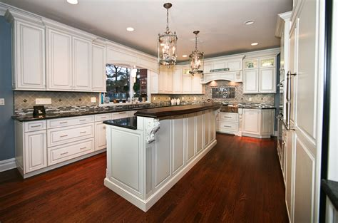 kitchen island with bar top custom cabinets rumson jersey by design line