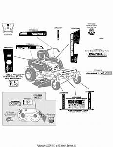 Mtd 17aj2acg897 Rzt42  2009  Parts Diagram For Label Map Rzt42