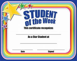 awesome star student template ensign example resume With student of the week certificate template