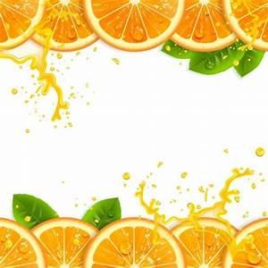 Fresh orange with juice background vector 03 - free download
