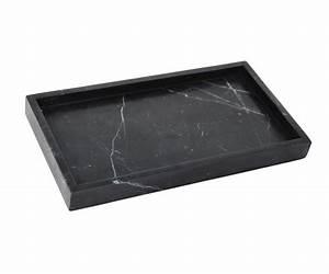 Black Rectangular Marble Tray
