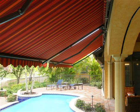 retractable awning pool deck  lanai retractable awning