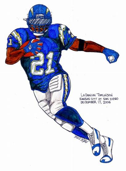 Nfl Football Clipart Drawings Player Players Character