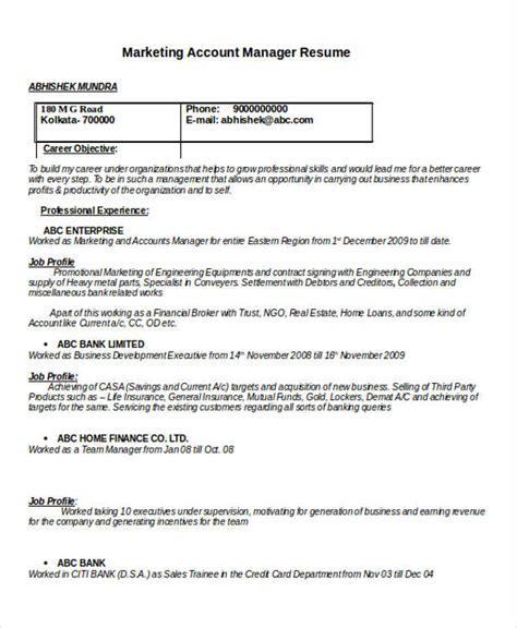 40 basic marketing resume free premium templates