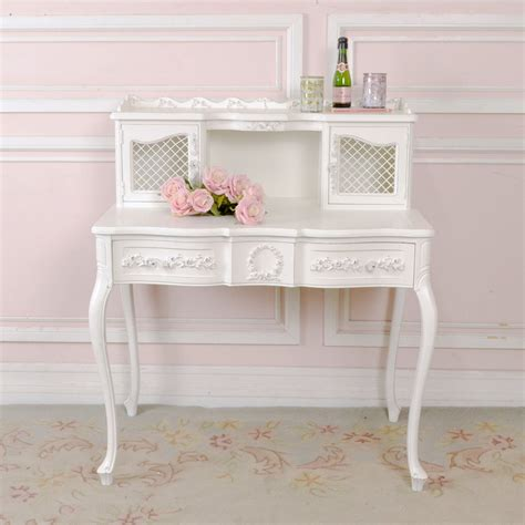 shabby chic writing desk shabby cottage chic white french vintage mesh writing desk