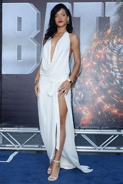 Rihanna Premiere Battleship Celebrity Evening Nude Prom