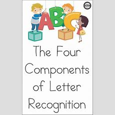 The Four Components Of Letter Recognition  Back To School  Teaching Letter Recognition, Letter
