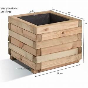 Bac En Bois Pour Plantes : bac jardini re bois pour plantes stockholm autoclave ~ Dailycaller-alerts.com Idées de Décoration