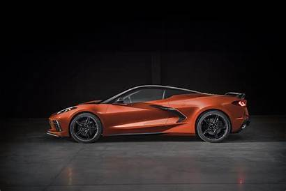 Corvette C8 Chevrolet Orange Wallpapers Background