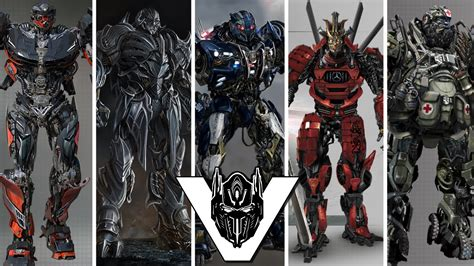 Transformers 5 Robot Cast Designs