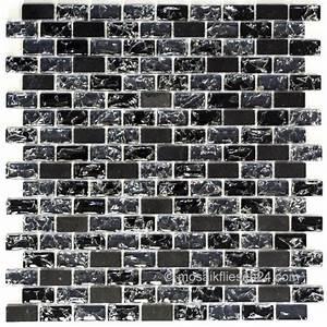 Mosaik Fliesen Schwarz : 1 blatt crystal naturstein mosaik 15x30 brix schwarz ~ Eleganceandgraceweddings.com Haus und Dekorationen