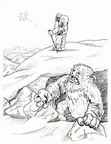 Coloring Bigfoot Yeti Kolorowanki Sasquatch Printable Druku Happy Easter Library Kolorowanka Wydruku Clipart Clip Popular Template sketch template